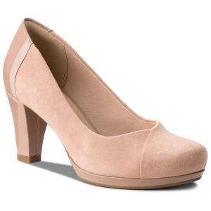 Magasított cipő CLARKS - Wynnmere Mara 261284124 Grey Suede ... f989e00524