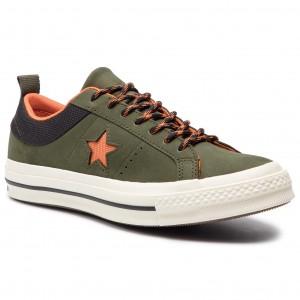 Teniszcipő CONVERSE - One Star Ox 162544C Utility Green Campfire Orange d3e0fa0766