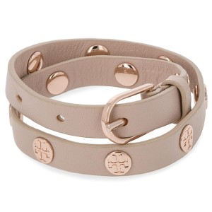 Karkötő TORY BURCH - Double Wrap Logo Stud Bracelet 11165816 Light Oak Rose  Gold 252 919c4bb1e3