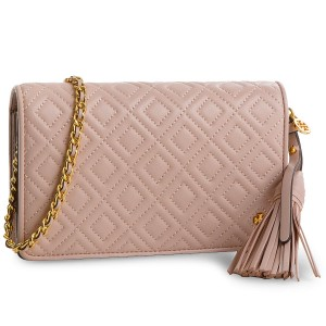 db5d39f5dc452 Táska TORY BURCH - Fleming Flat Wallet Cross-Body 46449 Shell Pink 652