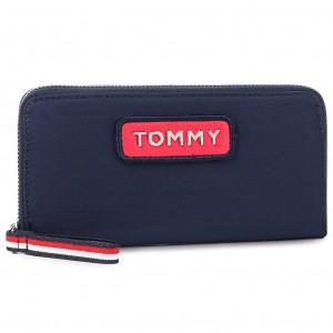 Nagy női pénztárca TOMMY HILFIGER - Varsity Nylon Lrg Za Wallet AW0AW06141  901 6a30c04980