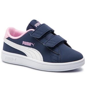 Sportcipő PUMA - Smash V2 Buck V Ps 365183 09 Peacoat Puma White Pale 2677fd8000