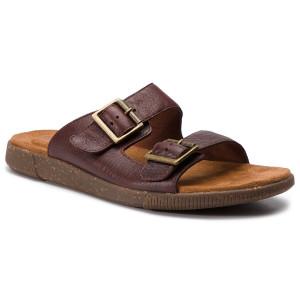 Papucs CLARKS - Vine Cedar 261398047 Mahogany Leather fdd755cc22