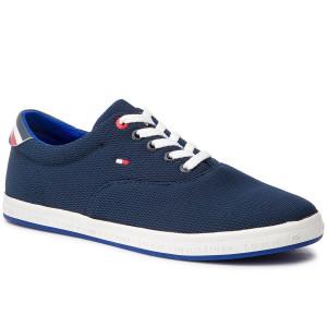 8473eaccf1 Teniszcipő TOMMY HILFIGER - Essential Oxford Textile Sneaker FM0FM02052  Midnight 403