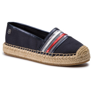 f11ad184e5 Espadrilles TOMMY HILFIGER - See-Through Detail Espadrille FW0FW03845  Midnight 403