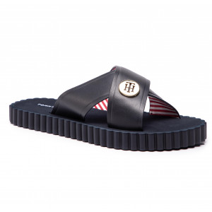 518f477e8d Papucs TOMMY HILFIGER - Hardware Detail Beach Sandal FW0FW03883 Midnight 403