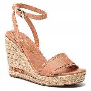 5b4c13be49 Espadrilles TOMMY HILFIGER Iconic Elena Tommy Pastel FW0FW04074 Silky Nude  297