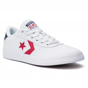 8802769883 Teniszcipő CONVERSE Converse Point Star Ox 563431C White/Enamel Red/Navy