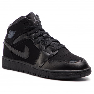 Cipő NIKE Air Jordan 1 Mid (GS) 554725 050 BlackDark Grey