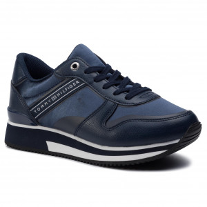 ab480399bae7 Sportcipő TOMMY HILFIGER - Mixed Active City Sneaker FW0FW04177 Tommy Navy  406