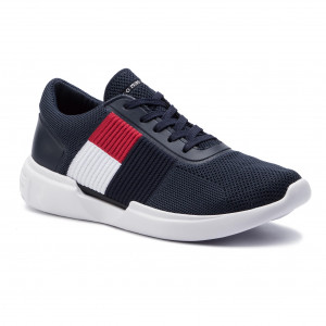 c347de4a78 Sportcipő TOMMY HILFIGER - Lightweight Runner Flag Knit FM0FM02275 Midnight  403