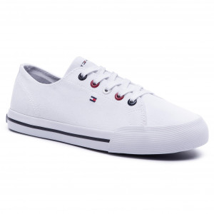 9038a88ea4 Teniszcipő TOMMY HILFIGER - Tommy Essential Sneaker FW0FW04139 White 100