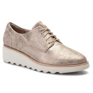 bdbf28068f14 Oxford cipők CLARKS - Sharon Crystal 261400714 Pewter