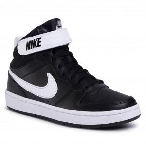 Cipő NIKE - Court Borough Mid 2 (GS) CD7782 010 Black/White - Sneakers - Félcipő - Női