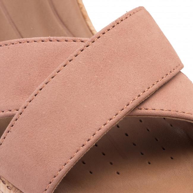 Szandál CLARKS - Un Plaza Cross 261423104  Rose - Magasított sarkú cipők - Papucsok és szandálok