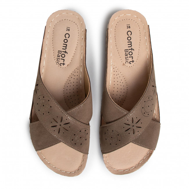 Papucs COMFORT BASIC - Sandalia Sra. C 44917 Taupe - Hétköznapi papucsok - Papucsok - Papucsok és szandálok