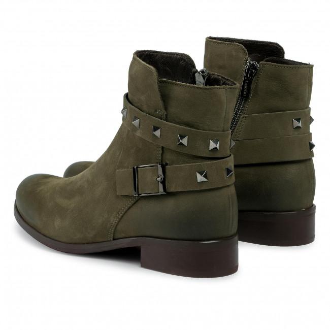 Magasított cipő LASOCKI - 70090-15 Khaki - Bokacsizmák - Csizmák és egyebek
